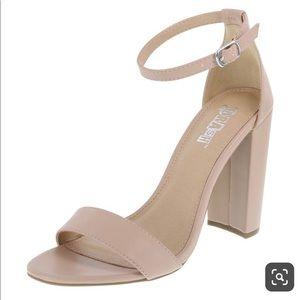 Brash chunky heel sandal NWT 4inchnude color matte